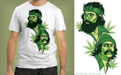 Cheech and Chong v 420 shirt by Cloxboy
