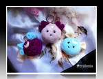 'The Three Graces' handmade plush keychains by seralune