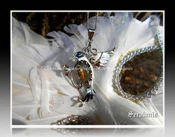 'Living gemstone' handmade sterling silver pendant by seralune