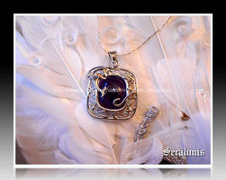 'Dragon amulet' handmade sterling silver pendant by seralune