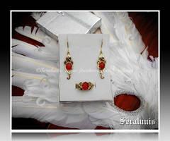 'Celtic trail' handmade brass jewelry set by seralune