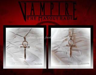 'Vampire The Masquerade' sterling silver pendants by seralune