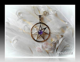 'Elven star' handmade sterling silver pendant by seralune