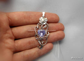 'Eternal love' handmade sterling silver pendant by seralune