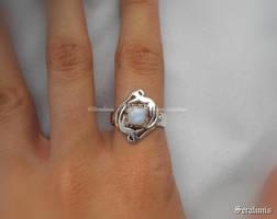 'Ring of Freya', handmade sterling silver ring by seralune