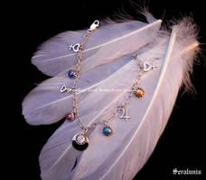 'Sailor Senshi' handmade sterling silver bracelet by seralune