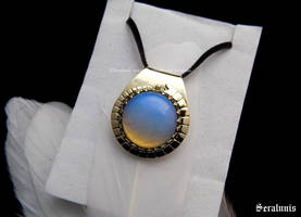 'Dune', handmade brass pendant by seralune