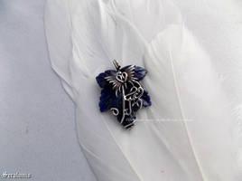 'Lapis Lazuli', handmade sterling silver pendant by seralune