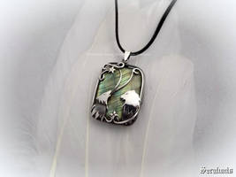 'Wild song', handmade sterling silver pendant by seralune
