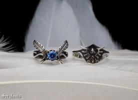 'Legend of Zelda', handmade sterling silver rings by seralune