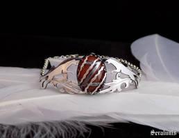 'Jaguar totem', handmade sterling silver bracelet by seralune