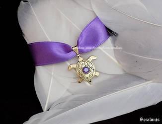 'Brass Turtle', handmade choker by seralune