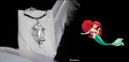 'Little Mermaid' handmade sterling silver pendant by seralune