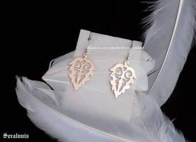 'Bronze leaves' handmade earrings by seralune