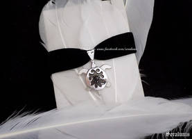 'Silver Turtle' handmade sterling silver choker by seralune