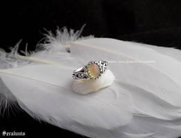 'Eternal love' handmade sterling silver ring by seralune