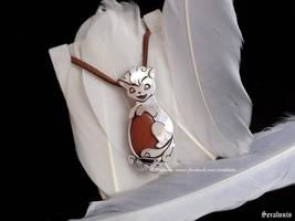 'Vulpix' handmade sterling silver pendant by seralune