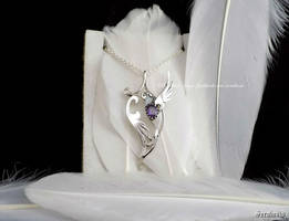 'Harmony', handmade sterling silver pendant by seralune