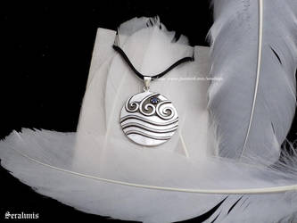 'Katara's necklace', sterling silver pendant by seralune