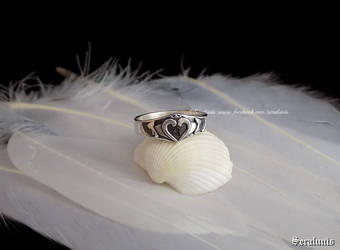 'Kingdom Hearts' handmade sterling silver ring by seralune