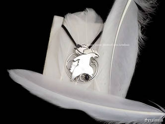 'Typhlosion' handmade sterling silver pendant by seralune