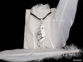 'Kero' handmade sterling silver pendant by seralune