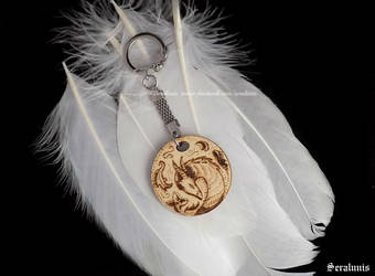 'Dragon', handmade keychain by seralune
