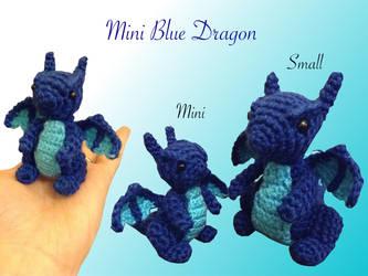 Mini Blue Dragon by Amaze-ingHats