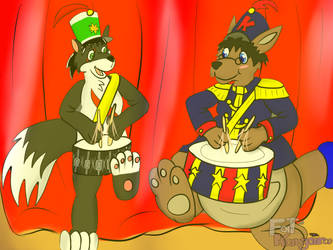 Time For a Drum roll!!!! -commission- by Kangythekangaroo