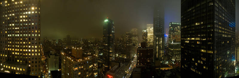 Panorama New York City: W 50th Street by rotane