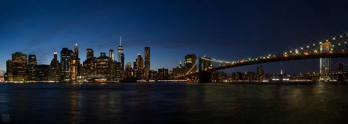 Panorama New York City: Manhattan by rotane