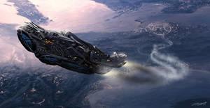 Sarcophage Spaceship Sketch by ZuluSplitter