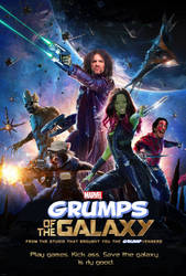 GRUMPS OF THE GALAXY - Game Grumps Movie Poster by EyebrowScar