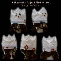 Togepi Fleece Hat by LiliNeko