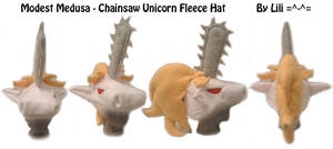 Chainsaw Unicorn Hat by LiliNeko
