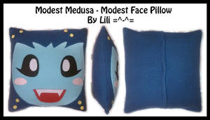 Modest Medusa - Modest Face Pillow by LiliNeko