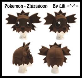 3rd Gen - Zigzagoon Hat by LiliNeko