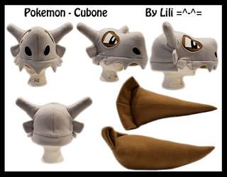 1st Gen - Cubone Hat and Tail by LiliNeko