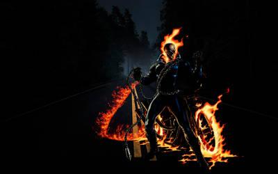Ghost Rider on the road by TamaraTashante
