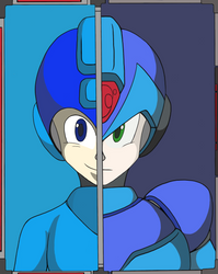 Megaman Past and future by AM05