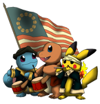 Patriotic Pokemon by Yatagarasu-san