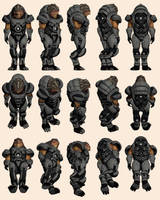 Mass Effect 2, Grunt - Model Reference. by Troodon80