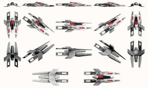Mass Effect, SA Fighter - Model Reference. by Troodon80