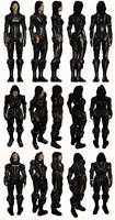 Mass Effect 2, Miranda AA - Model Reference. by Troodon80