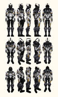 Mass Effect 2, Female Shepard Cerberus Armour Ref by Troodon80