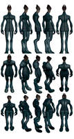 Mass Effect 2, Salarian Casual - Model Reference. by Troodon80