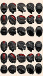 Mass Effect 2, N7 Helmet Model Reference by Troodon80