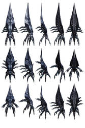 Mass Effect 3, Sovereign-Class Reaper Ref. by Troodon80