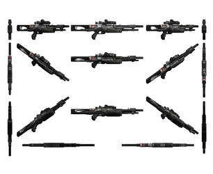 Mass Effect 3, Valiant Sniper Rifle Reference. by Troodon80