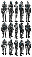 Mass Effect 3, Female Adept Armour Reference. by Troodon80